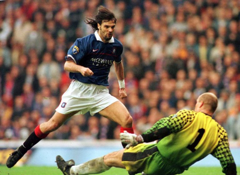Marco Negri got off to a flying start against Hearts back in 1997