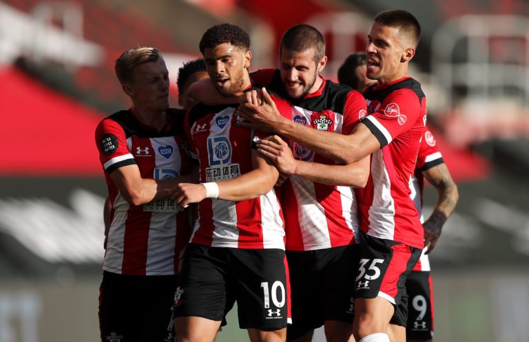 Che Adams (centre) scored the only goal as City suffered a surprise loss at Southampton at the weekend