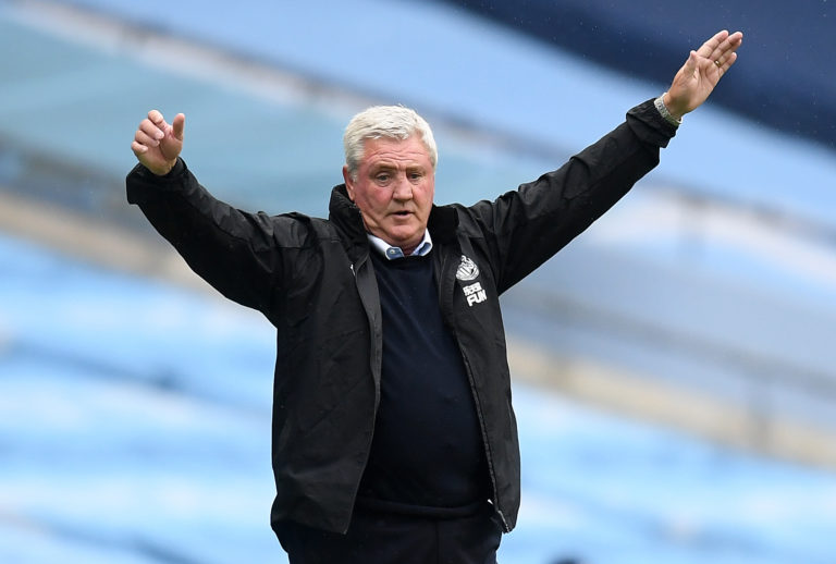 Newcastle manager Steve Bruce saw his side well beaten at the Etihad Stadium