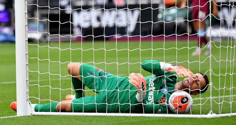 Lukasz Fabianski could not keep out Jay Rodriguez's header