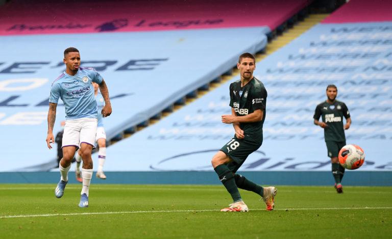 Gabriel Jesus ended his barren run in front of goal