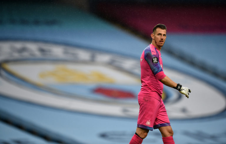 Newcastle goalkeeper Martin Dubravka was powerless to stop City running away with it