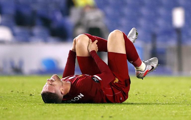 Jordan Henderson suffered a knee injury