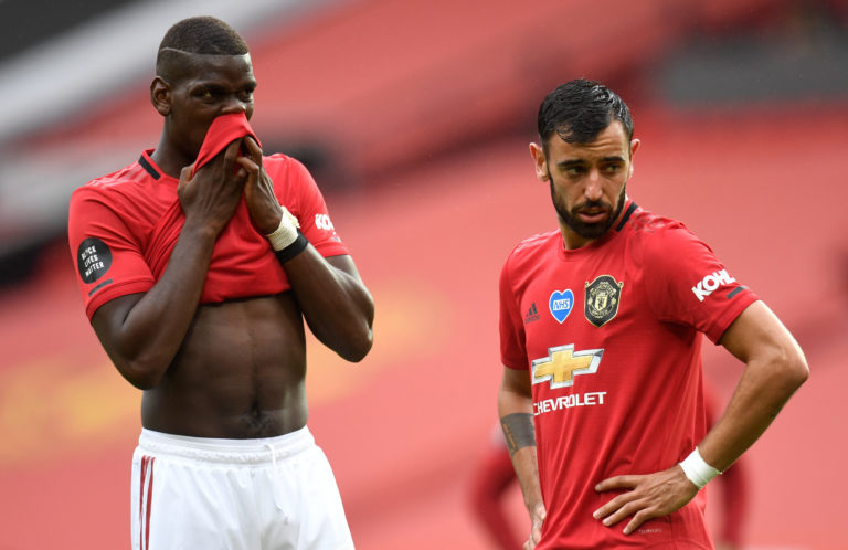 Pogba has been paired with the impressive Bruno Fernandes in midfield