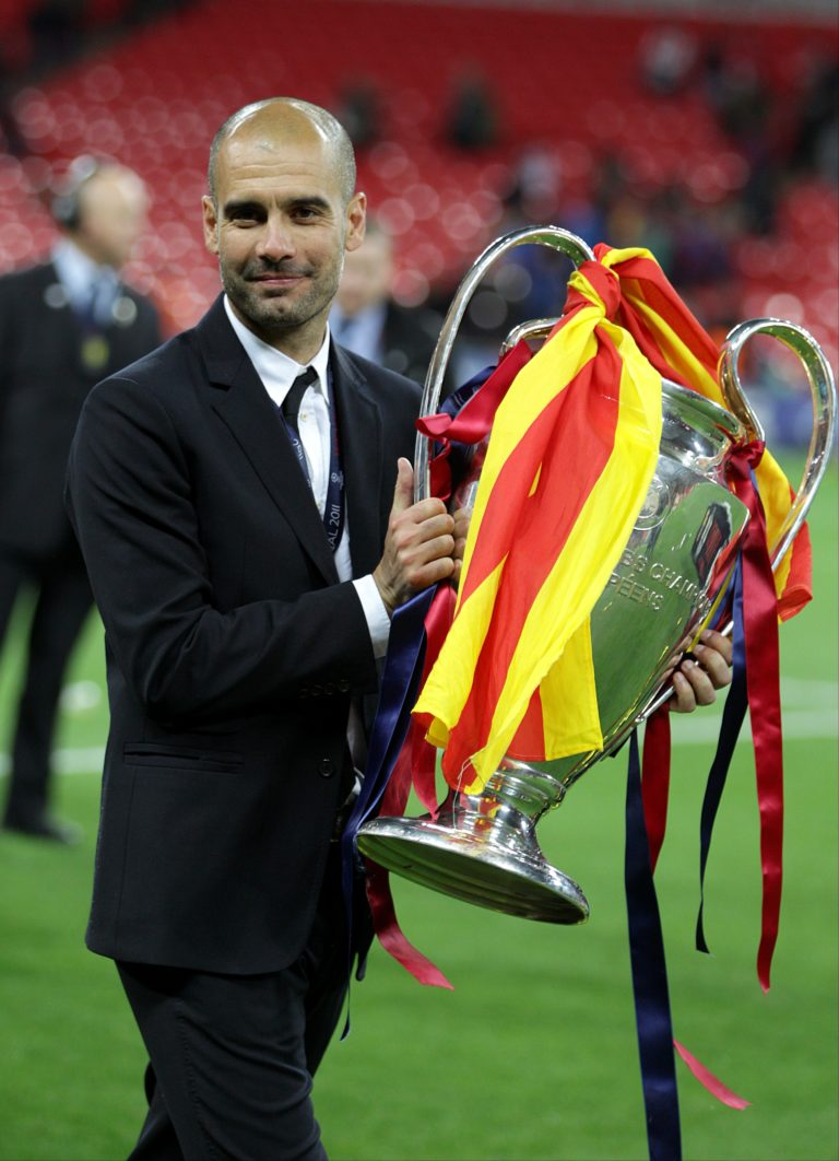 Guardiola won the Champions League with Barcelona