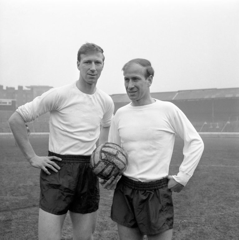 Jack Charlton played alongside his brother Bobby for England