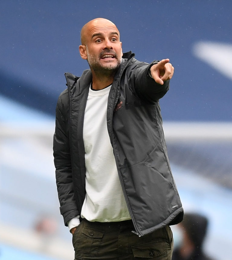 Pep Guardiola will send Manchester City into Champions League battle with Real Madrid next month