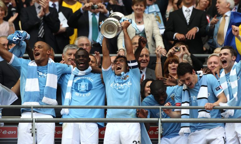 Tevez captained Manchester City to their FA Cup success in 2011.
