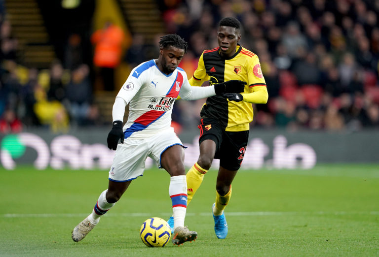Jeffrey Schlupp, left, last played for Crystal Palace on December 7 away to Watford
