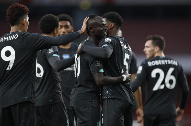 Liverpool went ahead through Sadio Mane