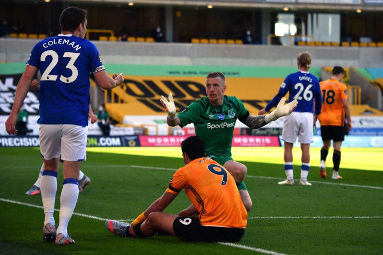 Jordan Pickford conceded three goals against Wolves