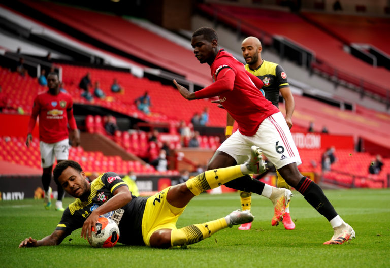 Paul Pogba played 63 minutes against Southampton on Monday