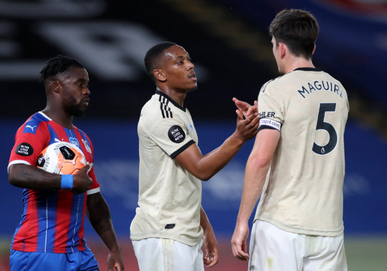 Martial was also on target at Selhurst Park