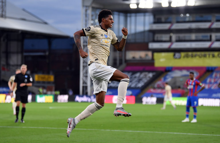 Marcus Rashford helped Manchester United secure a vital three points at Crystal Palace