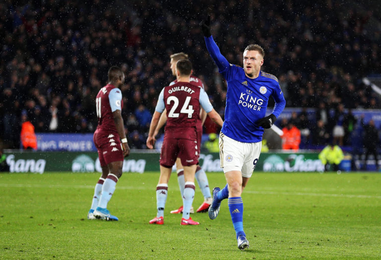 Leicester's 4-0 win over Aston Villa on March 9, in which Jamie Vardy scored twice, was the last Premier League match attended by supporters