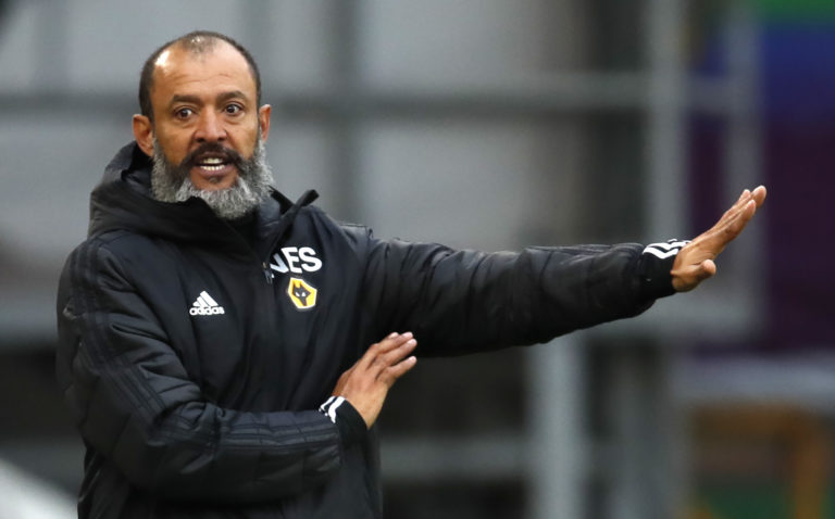 Wolves manager Nuno Espirito Santo says the absence of supporters had