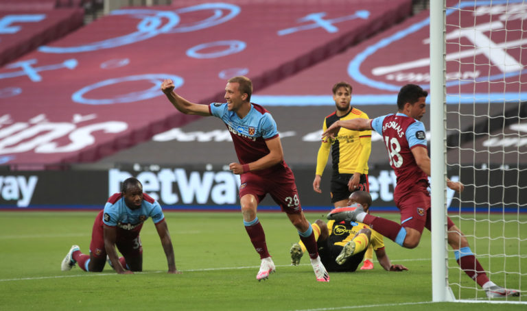 Tomas Soucek doubled West Ham's lead