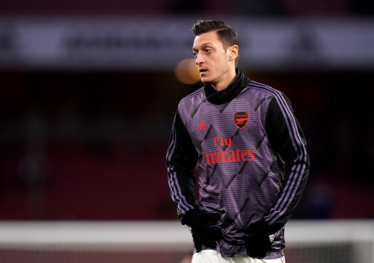 Mesut Ozil has not featured for Arsenal since the season restarted.