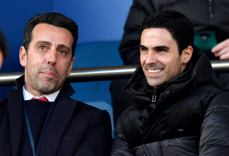Former Arsenal midfielder Edu (left) was appointed the club's technical director last summer.