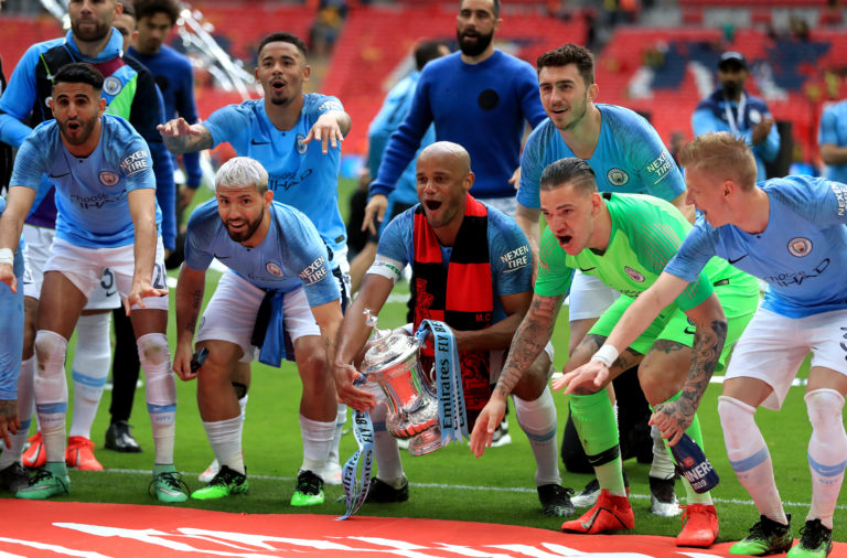 City thrashed Watford 6-0 to win the cup last year