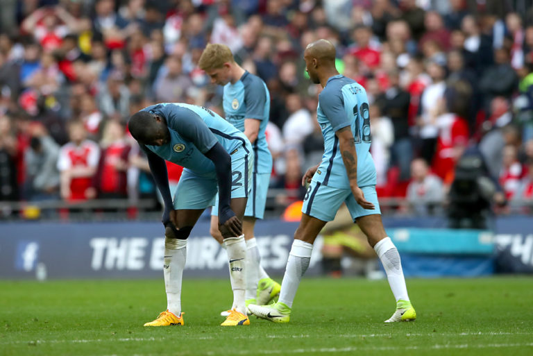 City were beaten by Arsenal at Wembley in 2017