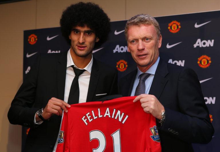 David Moyes, right, signed Marouane Fellaini twice