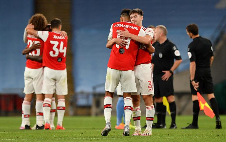 Kieran Tierney (right) was key for Arsenal