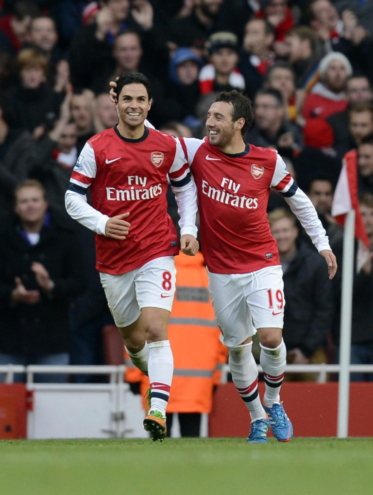 Arteta and Cazorla were Arsenal team-mates for four years.