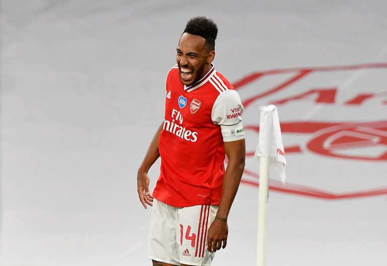 Pierre-Emerick Aubameyang scored twice as Arsenal beat Manchester City to reach the FA Cup final.