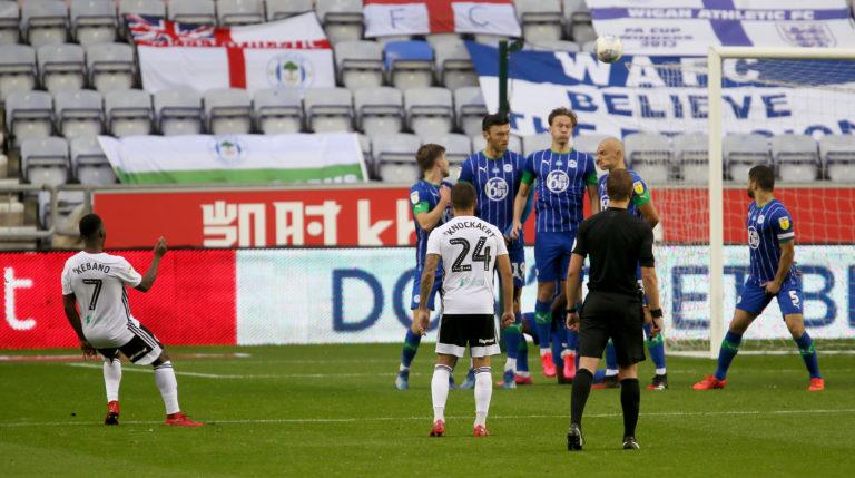 Neeskens Kebano's free-kick helped relegate Wigan