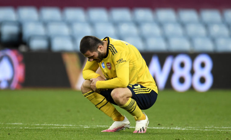 Arsenal were beaten by relegation-threatened Aston Villa on Tuesday night.