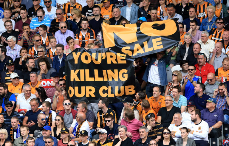 Hull fans blame owner Assem Allam for the club's plight