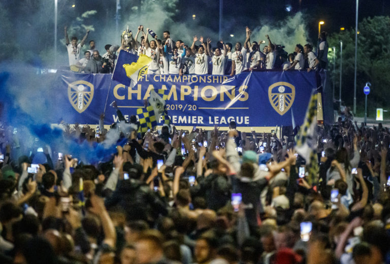 There were also large crowds at Elland Road