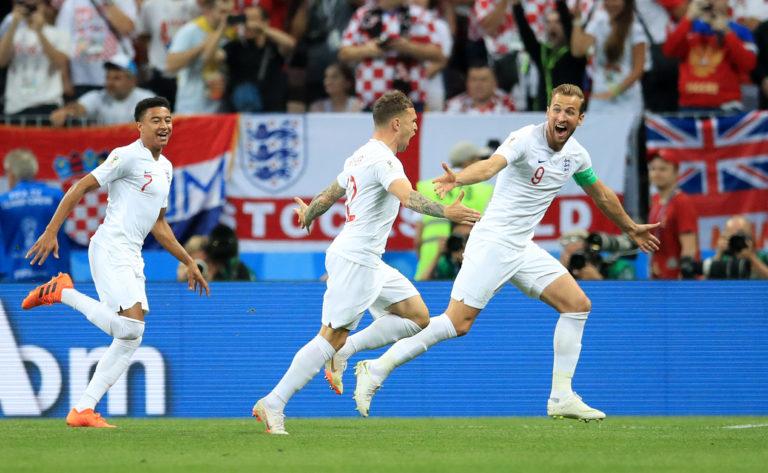 Jesse Lingard started the 2018 World Cup semi-final against Croatia