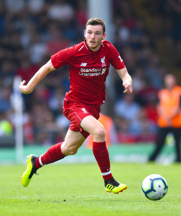 Liverpool and Scotland full-back Andy Robertson