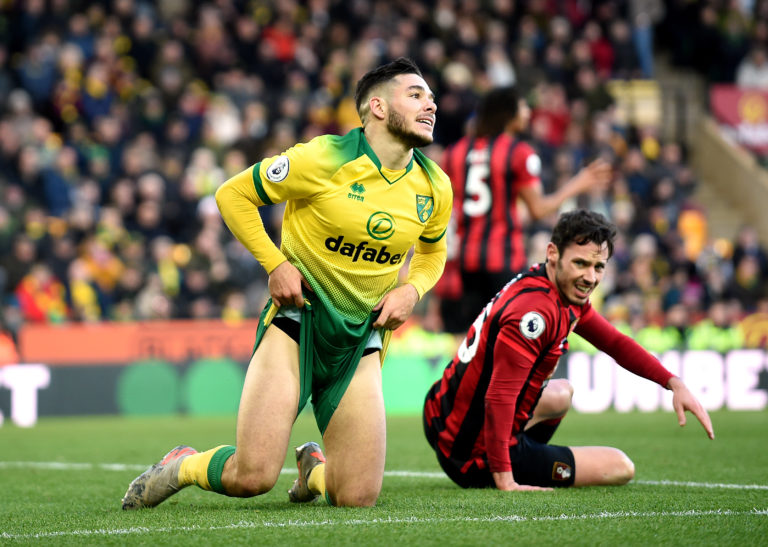 Norwich midfielder Emi Buendia shows his frustration against Bournemouth. The Canaries won the match won 1-0 but endured a dismal season, finishing bottom of the table and suffering an immediate return to the Championship