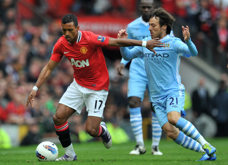 Manchester United were unable to hold back rampant Silva in 2011