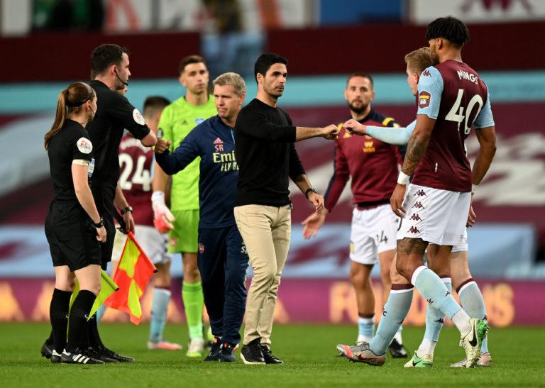 Arteta's side were beaten at struggling Aston Villa on Tuesday night.