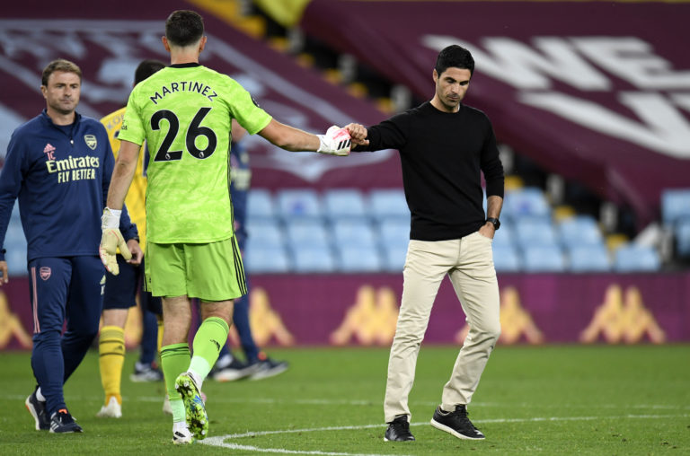Arteta saw his side lose at Aston Villa last time out.