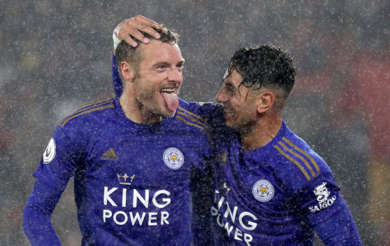 Ayoze Perez, right, and Jamie Vardy, left, hit hat-tricks at St Mary's in October as rampant Leicester demolished sorry Southampton to equal the biggest win in Premier League history. Strikes from Ben Chilwell, Youri Tielemans and James Maddison helped inflict the heaviest defeat in Saints' 134-year existence as the Foxes emulated Manchester United's 9-0 success over Ipswich in March 1995