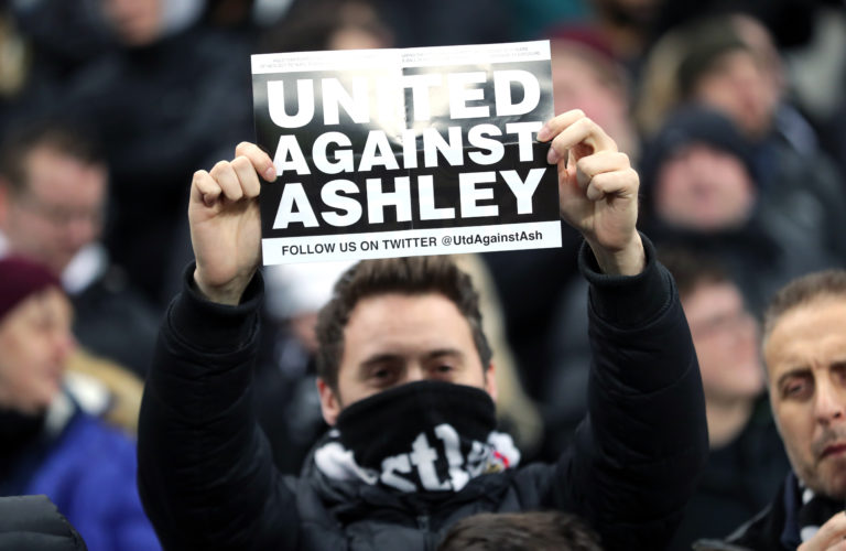 Mike Ashley remains the owner of Newcastle despite years of protests.