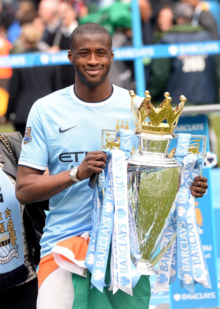 Yaya Toure won three Premier League titles with City